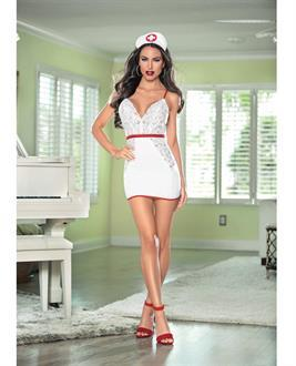 Women's Nurse Hott White/Red