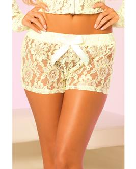 Women's Pink Lipstick Loungewear Luxurious Lace Lounge Short