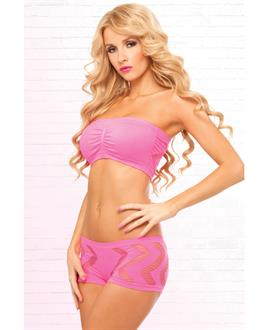 Women's Side Game Seamless Bandeau Set - OS