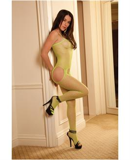 Women's Rene rofe industrial net suspender bodystocking - One Size