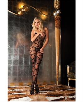 Women's Rene rofe strapped up sheer bodystocking - One Size