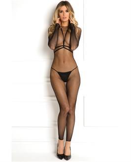 Women's Rene Rofe Body Conversation Harness Set Black