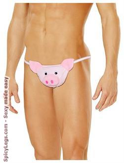 Men's Pig Pouch - Pink - One Size