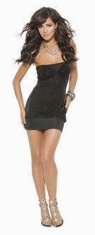 Women's Mini dress with ruched bodice