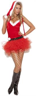 Women's 3 pc. Santas Sweetie Costume for Halloween
