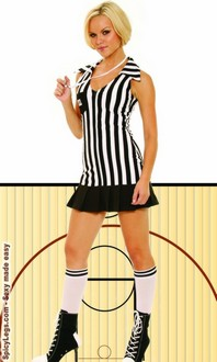 Women's Racey referee sleevless costume
