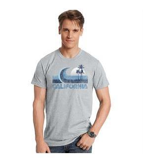 Hanes Men's California Wave Graphic Tee
