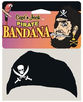 Men's Pirate Jack Head Bandana - Standard for Halloween