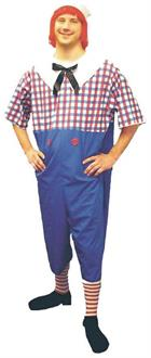 Men's Raggedy Andy Plus Size Costume - Standard for Halloween