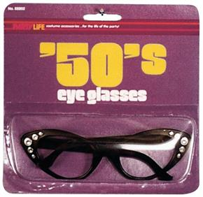 50's Cat's Eye Glasses Costume Accessory - Standard for Halloween