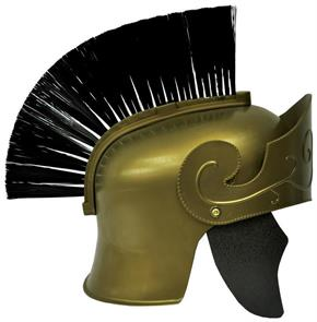 Roman Helmet Gd With Black Brush - Standard for Halloween