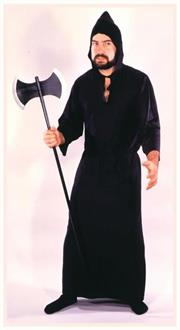 Men's Robe Econo Masquerade Black Costume - Standard for Halloween