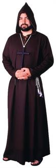 Men's Brown Medieval Monk Costume - Standard