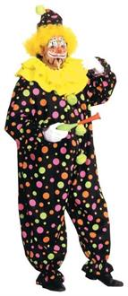 Neon Dotted Clown Costume - Standard