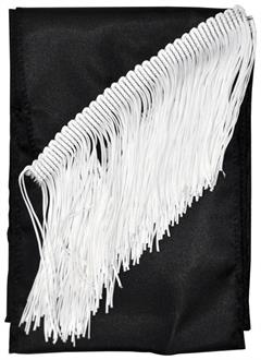 Sash Fringed Black - Standard for Halloween
