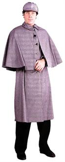 Men's Sherlock Holmes Cape Costume - Standard for Halloween