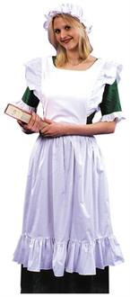 Women's Pinafore Adult Costume With Mob Cap - Standard