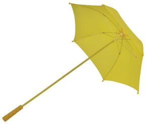 Women's Nylon Yellow Parasol - Standard