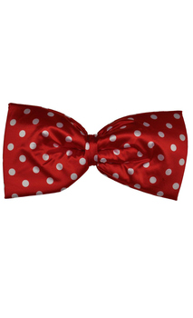 Polka dot Red Jumbo Bow Tie - Standard