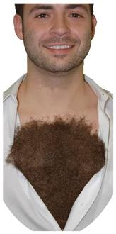 Men's Hairy Chest Costume Accessory - Standard for Halloween