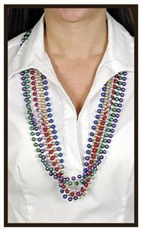 12 strands Beads For Mardi Gras - Standard