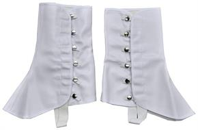 9 Inch Tall White Vinyl Spats - Standard for Halloween
