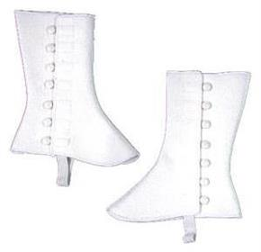9 Inch Tall White Vinyl Spats - Standard