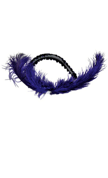 Women's Purple Dance Hall Headpiece - Standard