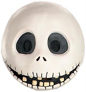 Men's Jack Skellington Mask - Standard