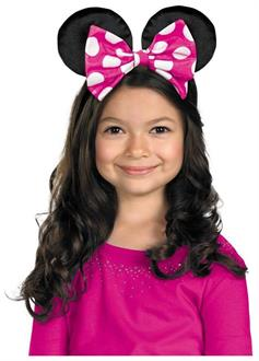Kids Minnie Mouse Ears With Reversible Bow - Standard