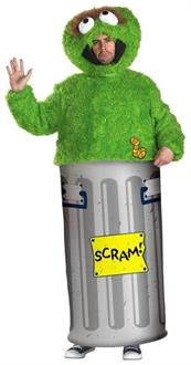 Men's Retro Oscar Grouch Sesame Street Costume