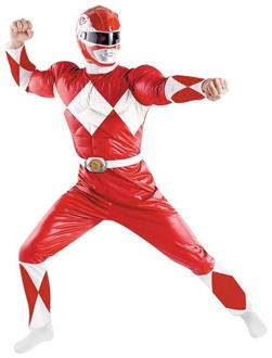 Men's Power Ranger Red Adult Costume - Standard