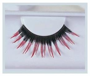 Women's Eyelashes Black With Pink Accessory - Standard