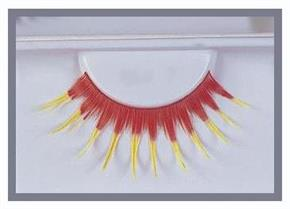 Women's Eyelashes Red With Yellow Accessory - Standard