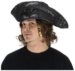 Black Old Pirate Hat - Standard