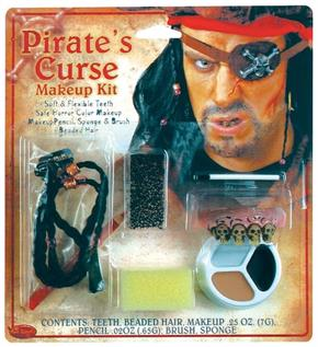Men's Pirate Horror Character Accessory Kit - Standard