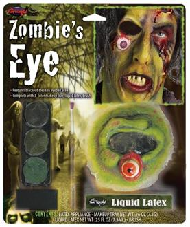 Zombie's Eye Kit With Eye Makeup Accessory - Standard