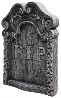 Rest In Peace Tombstone Prop - Standard