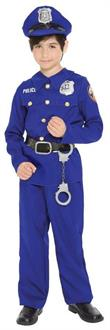 Kids Police Officer Boy Medium Costume - Standard