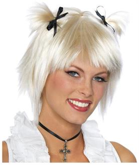 Kids Short School Girl Blonde Wig - Standard