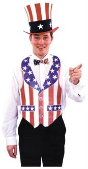 Men's Vest Fourth Of July Bar-Paper Costume - Standard