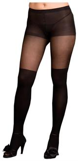 Women's Pantyhose Sheer Black Queen - Standard