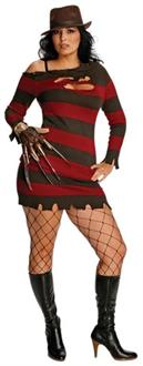 Women's Miss Sexy Krueger Adult Plus Size Costume - Standard