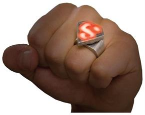 Women's Superman Light Up Ring - Standard