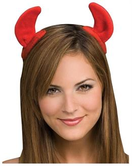 Women's Devil Horns On Clips Red Accessory - Standard