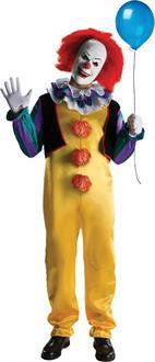 Men's Stephen Kings IT Pennywise Adult Costume - Fits Up To Size 44