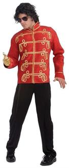 Men's Michael Jackson Military Jacket A Red costume
