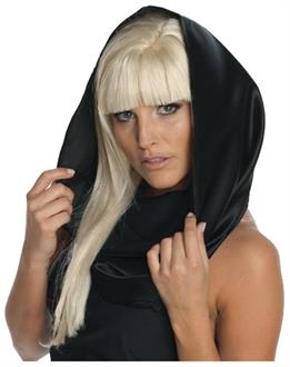 Lady Gaga Black Headscarf