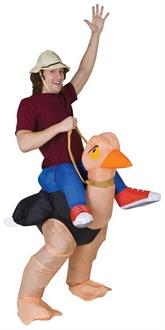 Men's Ollie Ostrich Inflatable Costume - Standard