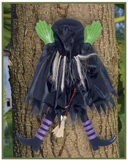 Tree Trunk Witch Assorted Decoration - Standard